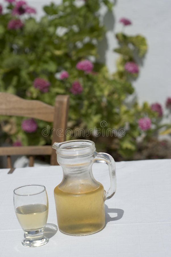 Carafe of house wine royalty free stock images