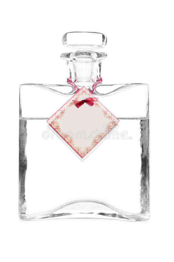 Carafe of vodka. Carafe with vodka and empty cotillion on it royalty free stock photography