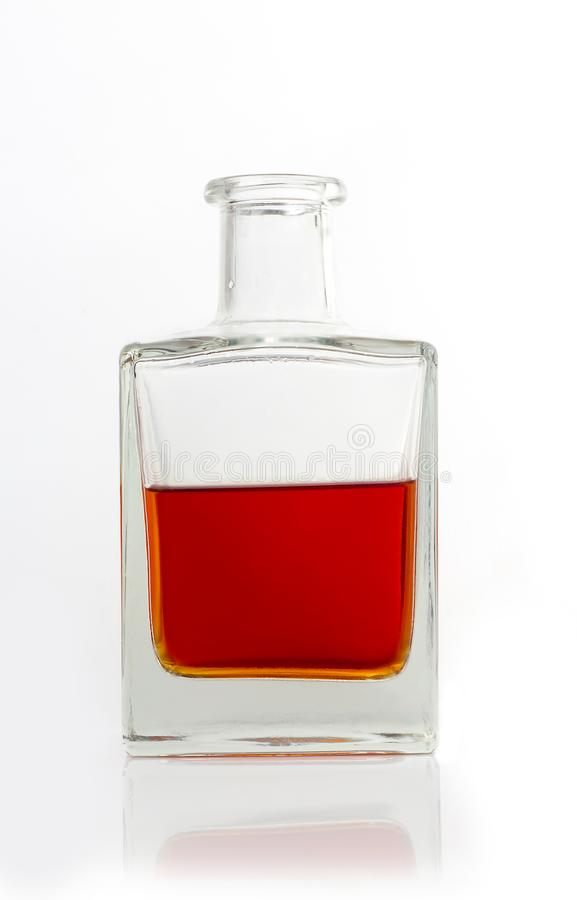 Carafe with whiskey stock image