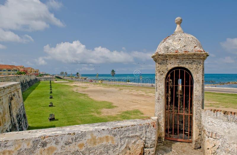 caragena miasta ściany fotografia royalty free