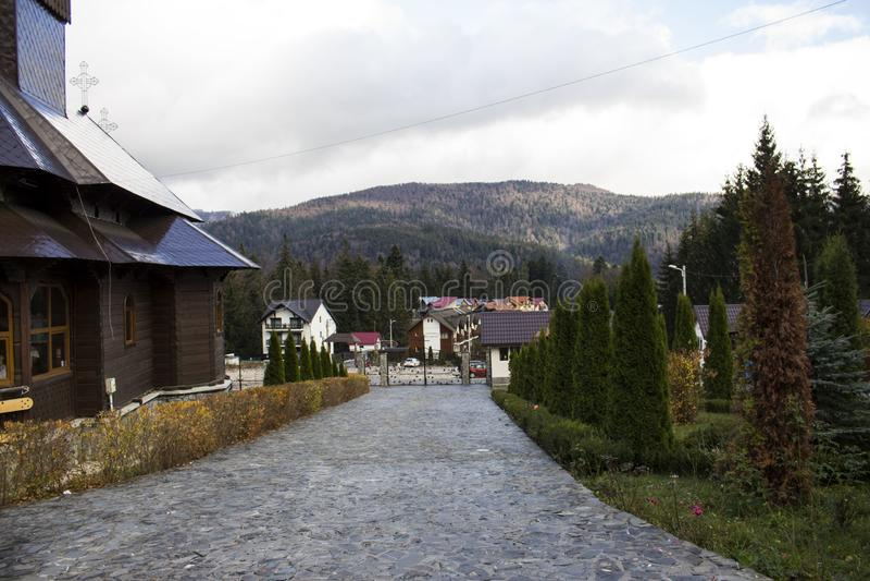 caraiman kloster arkivbilder