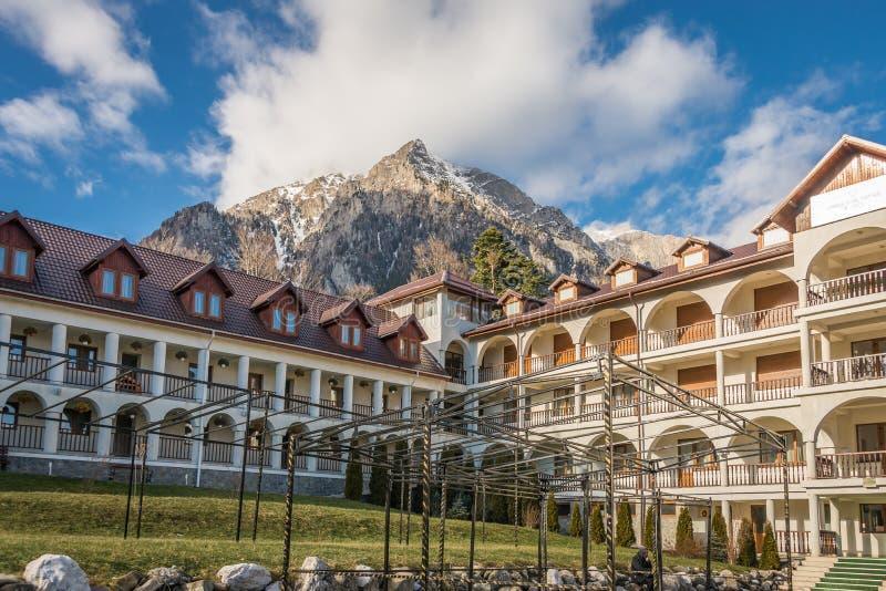 Caraiman Monastery in Busteni Mountains in Romania royalty free stock photos