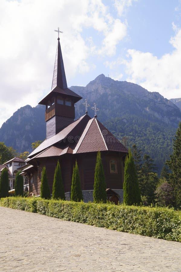 Caraiman monastery in Busteni, Romania royalty free stock image