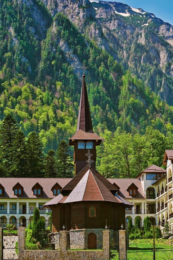 Caraiman Monastery Church royalty free stock photos