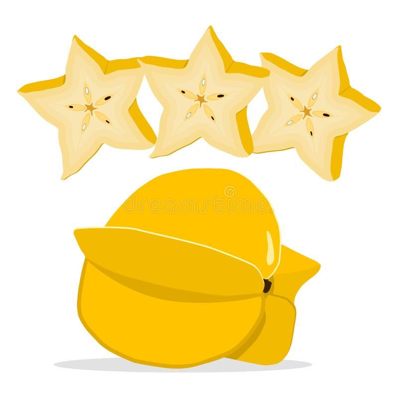 Carambola gialla della frutta illustrazione di stock