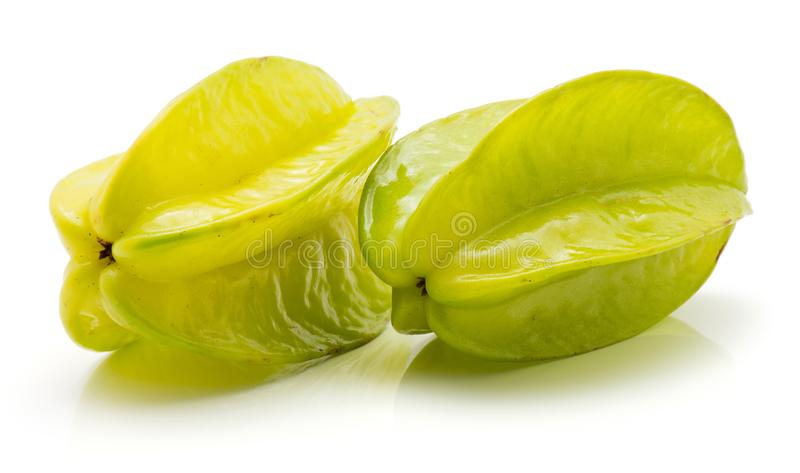 Fresh Carambola isolated stock images