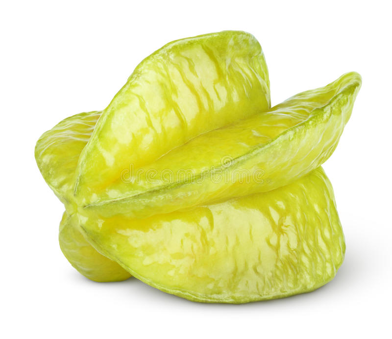 Carambola ou starfruit no branco imagens de stock royalty free