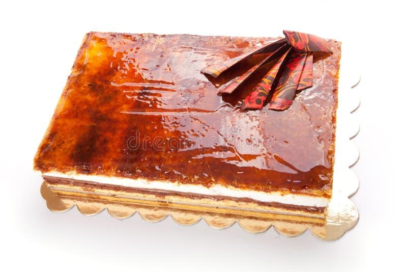 Caramel cake stock photography