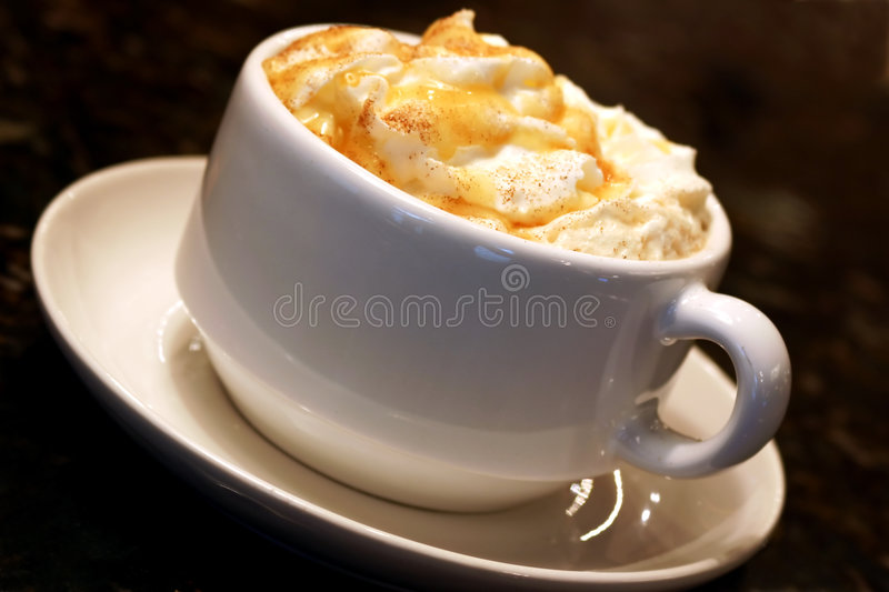Caramel Coffee stock photography