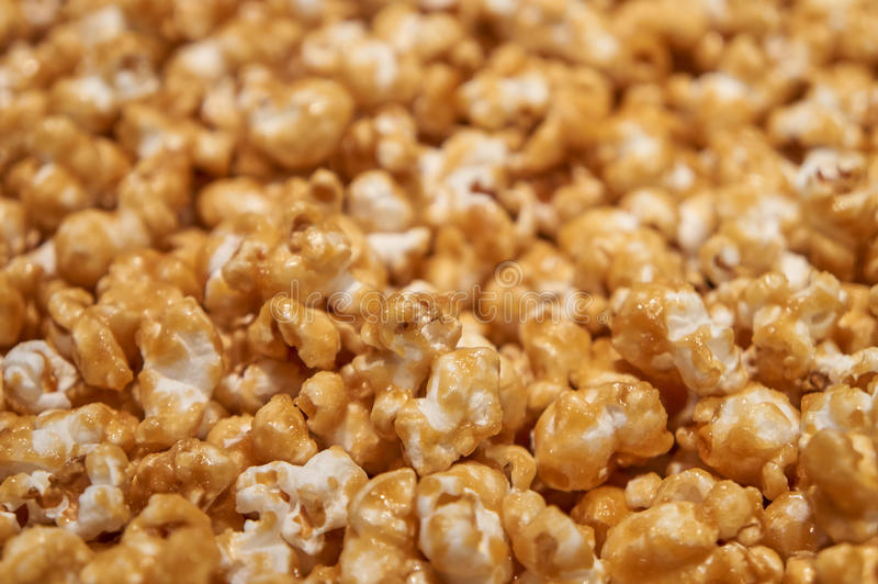 Caramel corn closeup. Caramel corn close-up with a shallow depth of field royalty free stock image