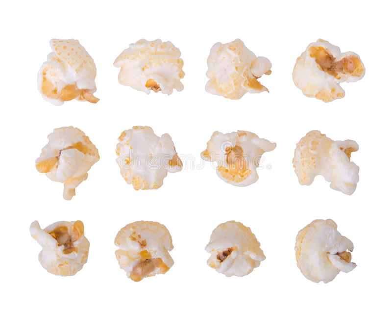 Caramel corn on a white. Background royalty free stock photo
