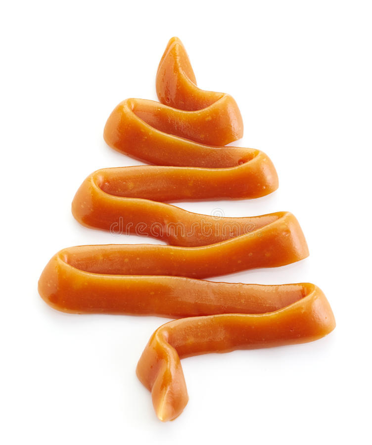 Caramel cream christmas tree royalty free stock photo