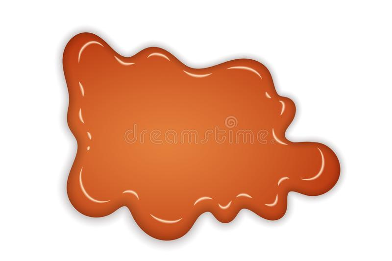 Caramel drop. Realistic caramel, flow liquid isolated on white background. 3D splash toffee candy. Delicious snack food vector illustration