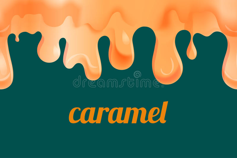 Caramel fondu d'or illustration libre de droits
