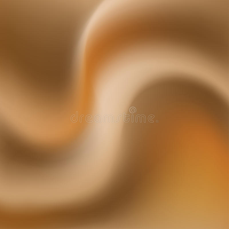 Caramel milk cream smooth flow, background royalty free illustration