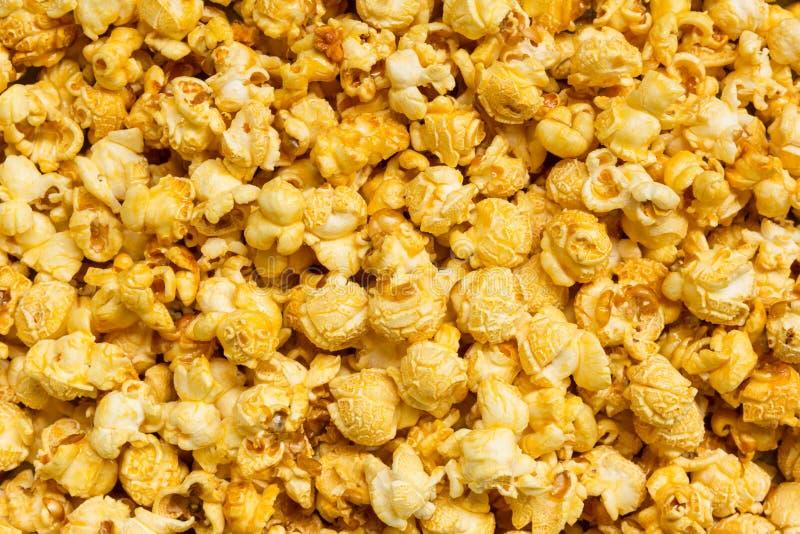 Caramel popcorn background royalty free stock photography