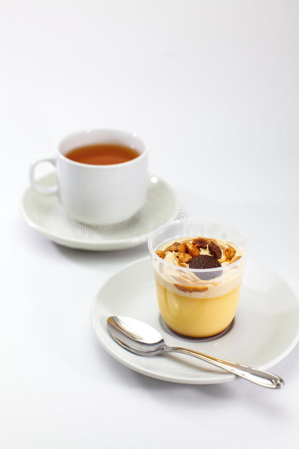Caramel pudding royalty free stock photography