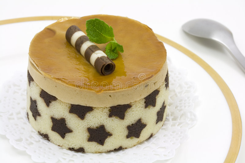 Download Caramel starry cake stock image. Image of decorated, golden - 4923605