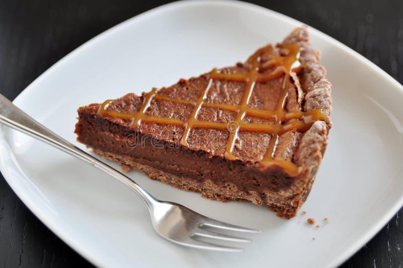 Caramel Tarte de chocolat photo libre de droits