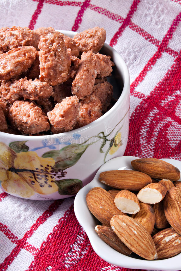 Caramelized Almonds Royalty Free Stock Photography