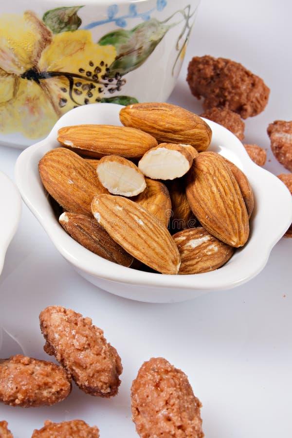 Caramelized Almonds Royalty Free Stock Photos