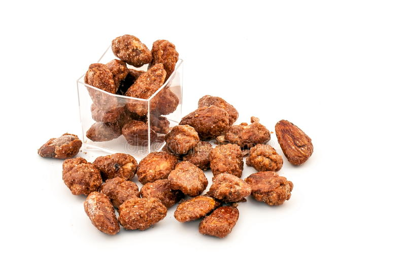 Download Caramelized Almonds stock photo. Image of healthy, dish - 24124302