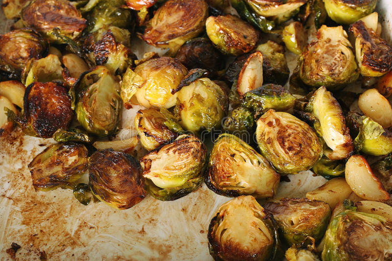 Caramelized brussel sprouts. Shot of caramelized brussel sprouts royalty free stock images