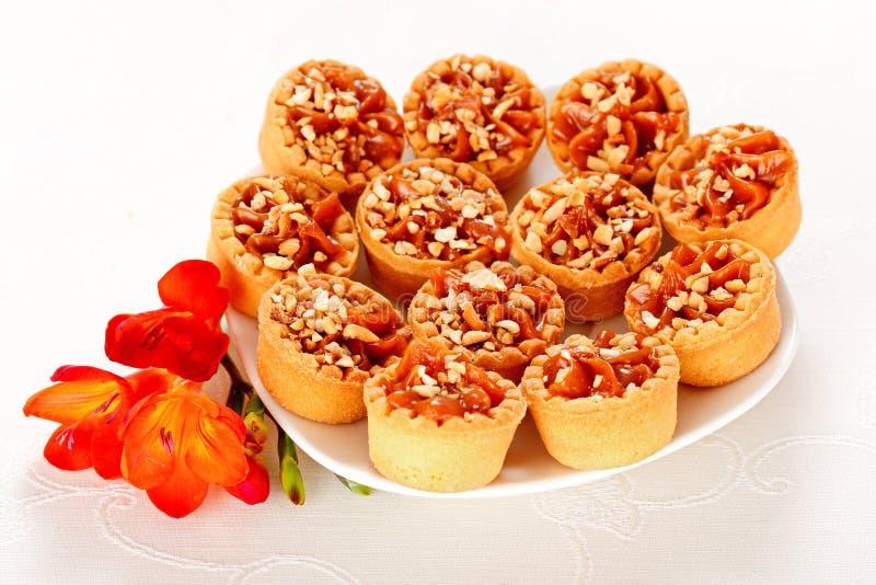 Caramell basket cake royalty free stock images