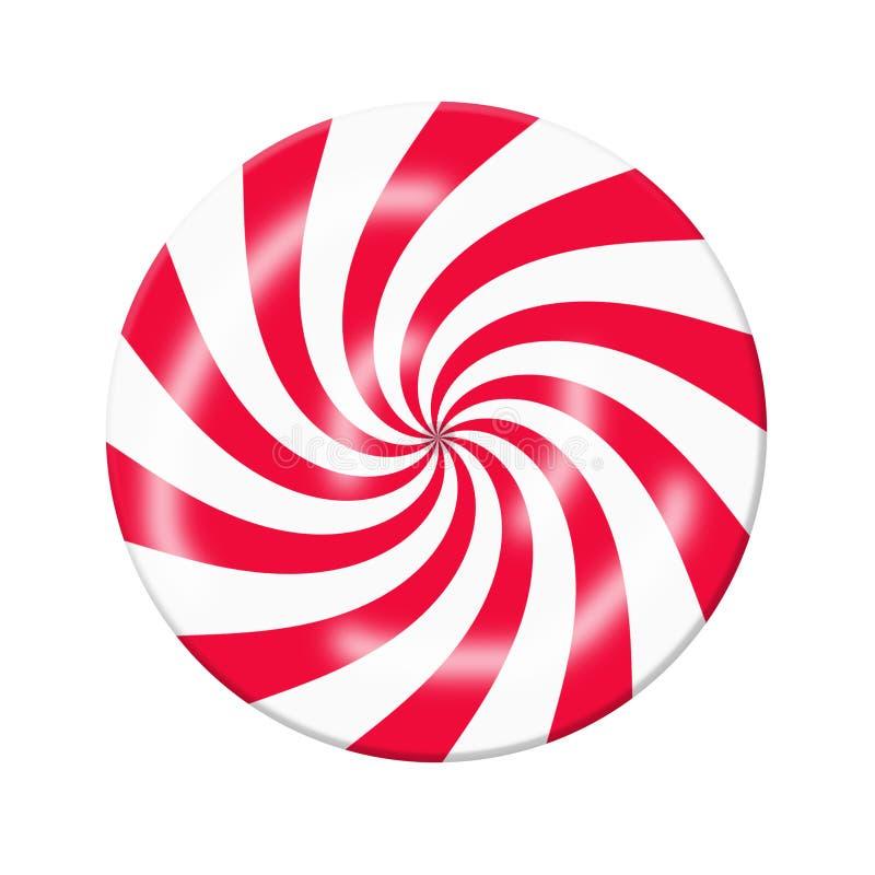 Caramella bianca rossa illustrazione vettoriale