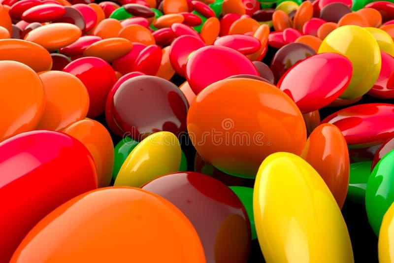Caramella degli Skittles illustrazione vettoriale
