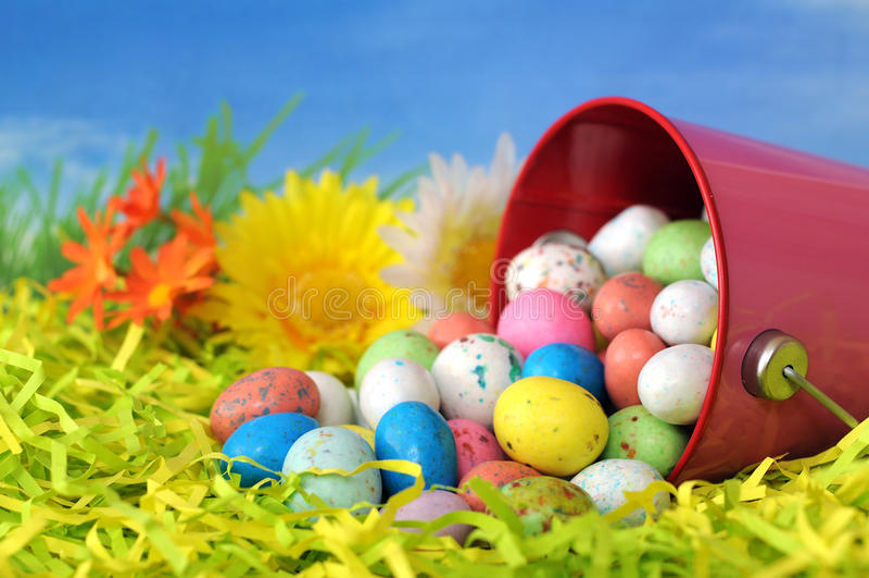 Caramella dell'uovo per Pasqua fotografie stock libere da diritti