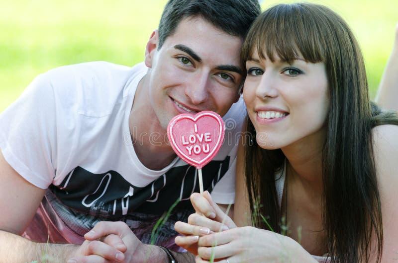 Caramella di amore fotografia stock