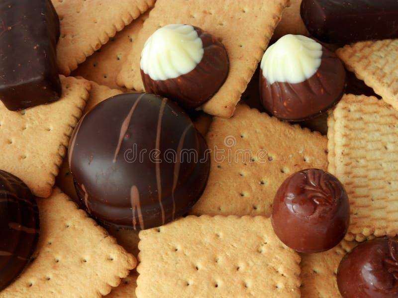Caramella e biscotto fotografie stock
