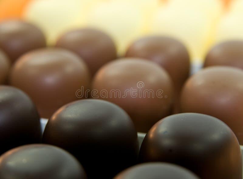 Caramella gommosa e molle del cioccolato immagine stock