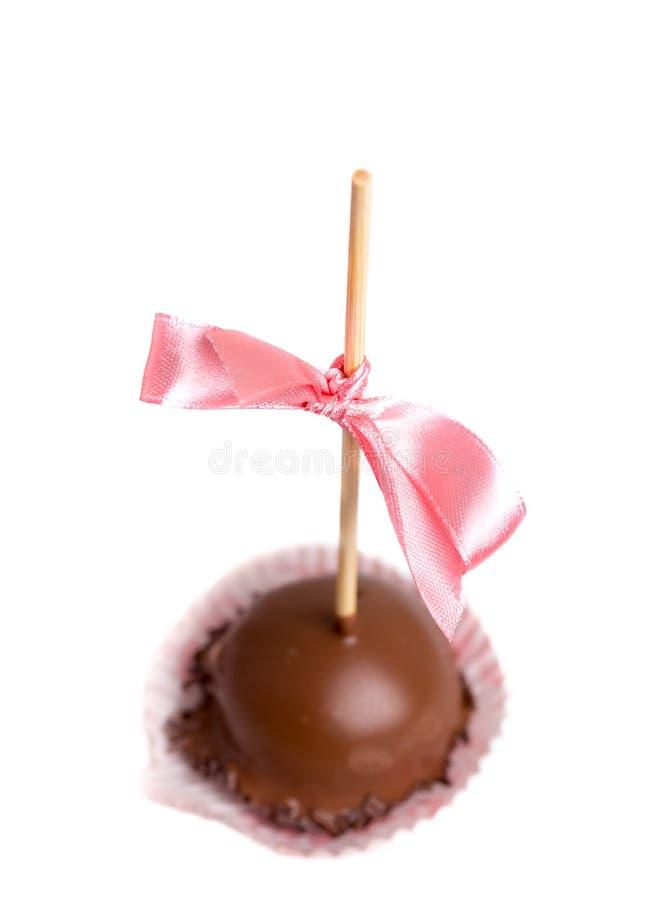 Caramella lustrata cioccolato delizioso immagini stock