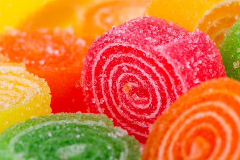 Caramella porpora della gelatina fotografia stock libera da diritti