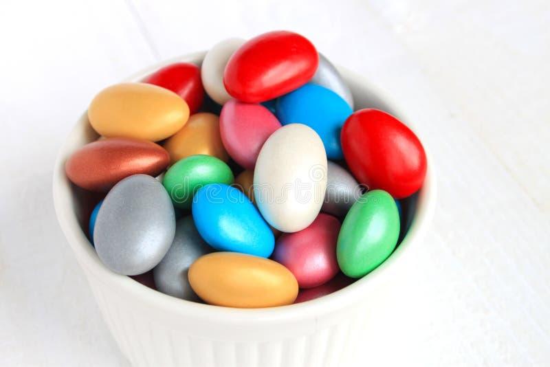 Caramella rivestita dello zucchero immagini stock