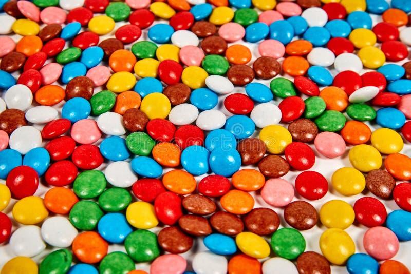 Caramella variopinta dolce Struttura o fondo di colore di variazione di Candy Azione della foto fotografia stock