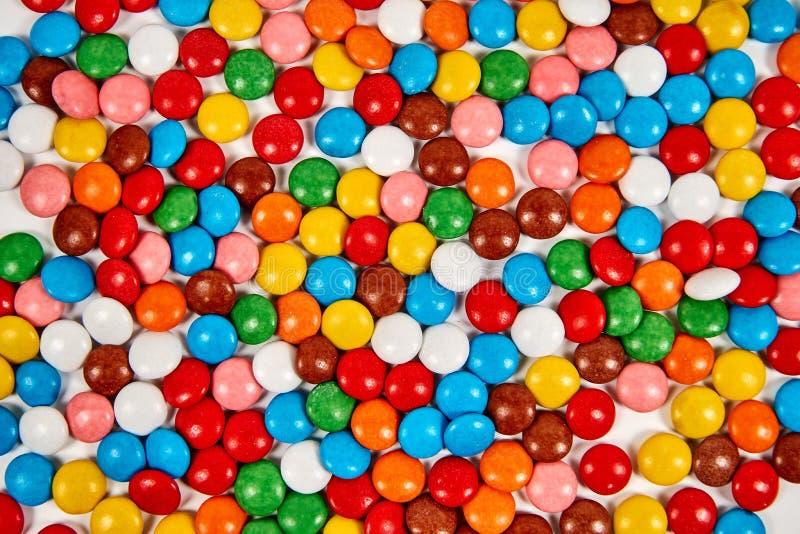 Caramella variopinta dolce Struttura o fondo di colore di variazione di Candy Azione della foto fotografia stock libera da diritti