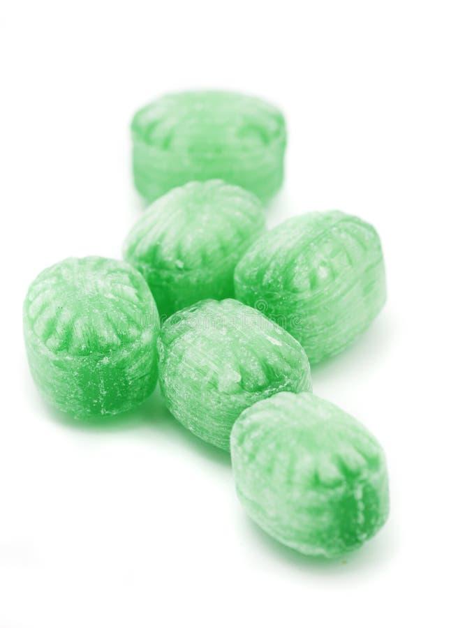 Caramelle alla menta verdi fotografia stock