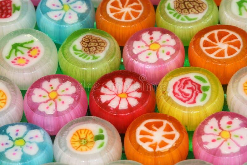 Caramelle colorate fotografia stock