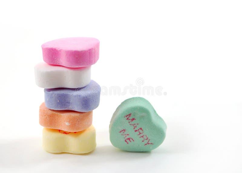 Caramelle del biglietto di S. Valentino immagine stock