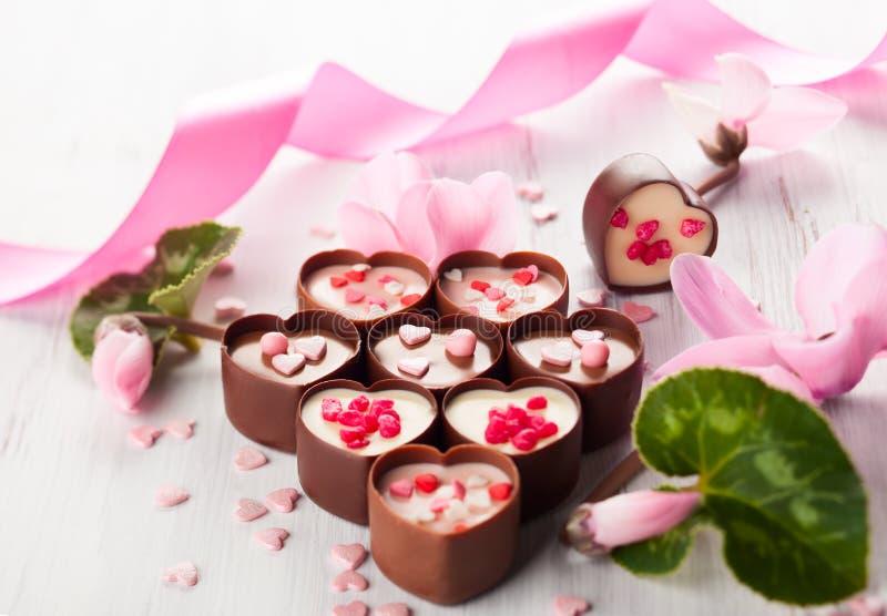Caramelle di cioccolato fotografia stock libera da diritti