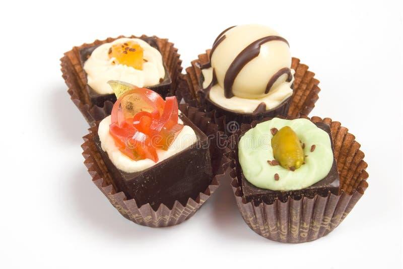 Caramelle di cioccolato di lusso fotografie stock