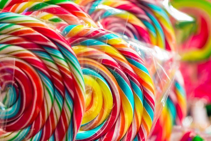 Caramelle dolci del bello arcobaleno, orizzontale fotografie stock libere da diritti