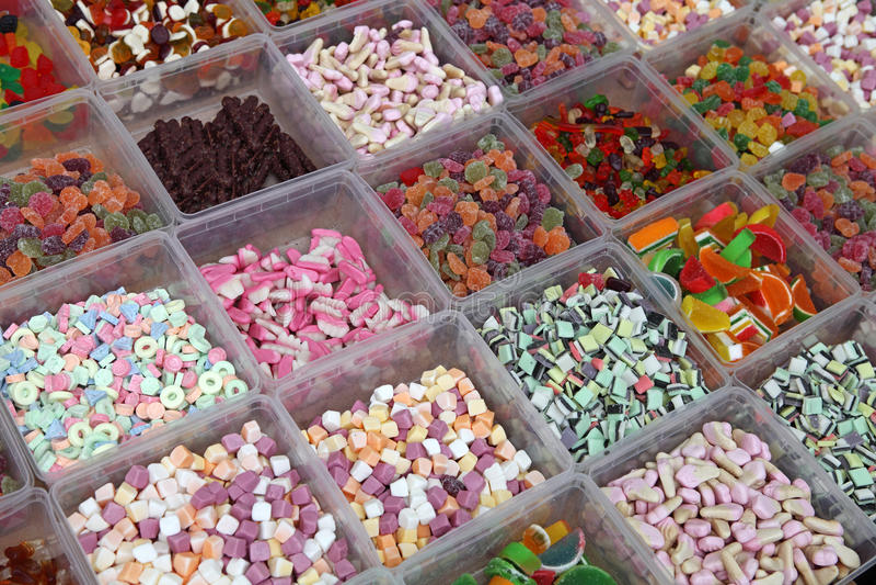 Caramelle dolci nel negozio fotografie stock