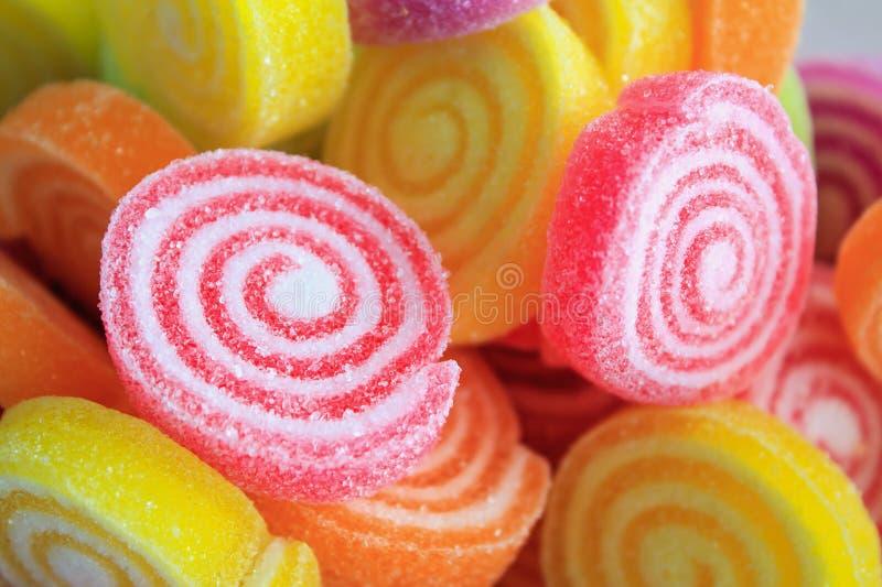Caramelle dolci variopinte della gelatina fotografia stock libera da diritti
