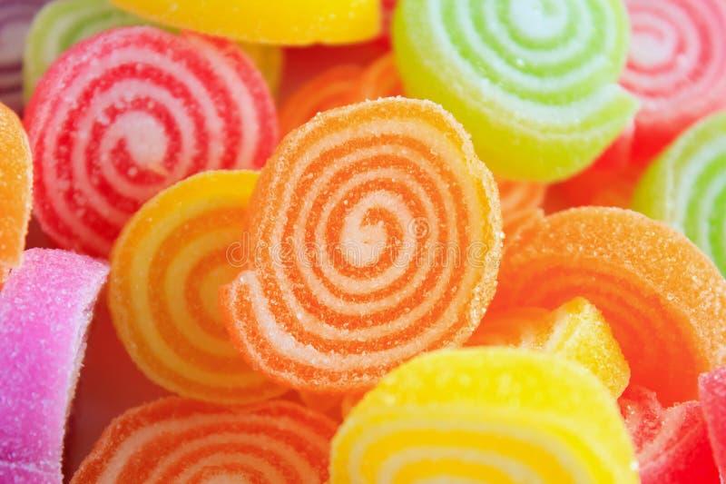 Caramelle dolci variopinte della gelatina immagine stock