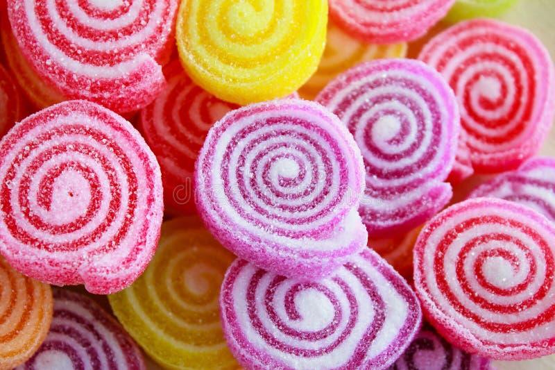 Caramelle dolci variopinte della gelatina immagini stock libere da diritti