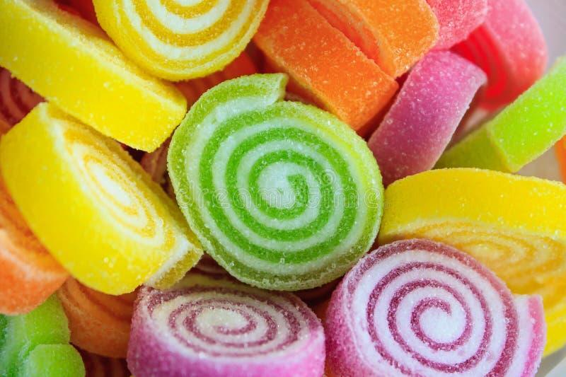 Caramelle dolci variopinte della gelatina fotografie stock libere da diritti